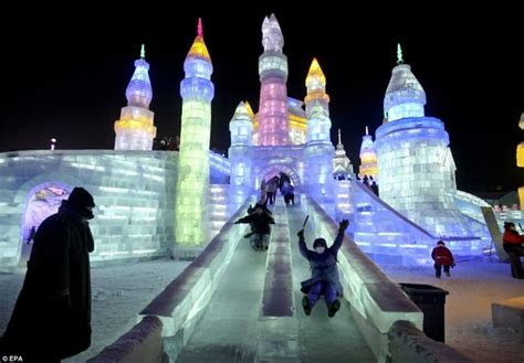 incredible ice sculptures  alive  led lights