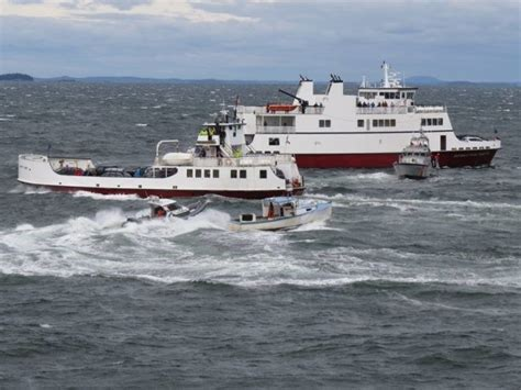 Lobster Boat In Rough Seas by North Haven Fisherman Found Dead Aboard Circling Boat