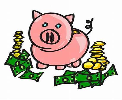 Clip Bank Clipart Money Piggy Drawing Clipartion