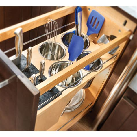 9 pull out organizer rev a shelf pull out knife and utensil base