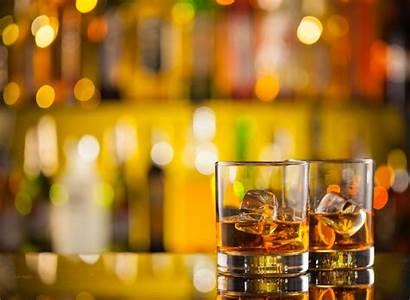 Bar Drinks Whiskey Counter Background Blur Birthday