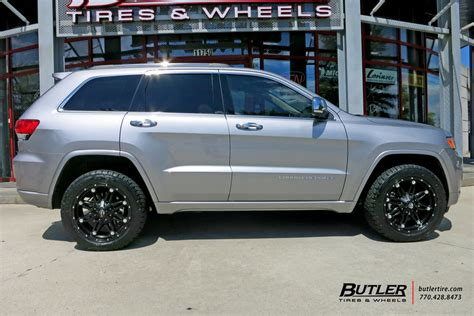 jeep cherokee tires jeep grand cherokee with 20in fuel hostage wheels