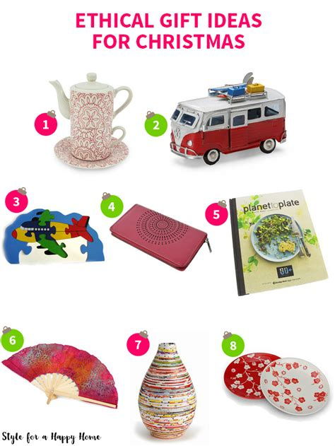 ethical gift ideas for christmas style for a happy home