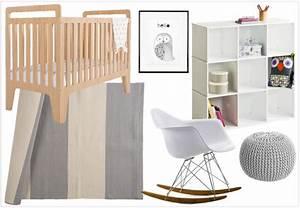une chambre aux teintes neutres pour le bebe d39elodie With affiche chambre bébé avec tapis pour dos