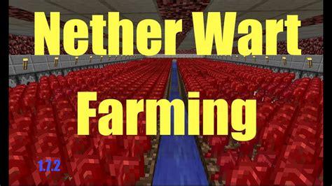 grow nether wart farming minecraft  youtube