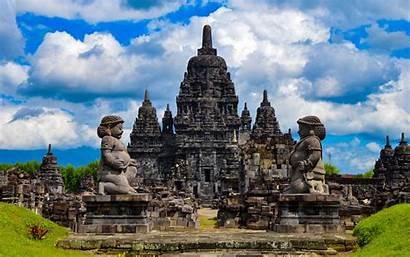 Temple 4k Buddhist Indonesian Candi Landmarks Sewu
