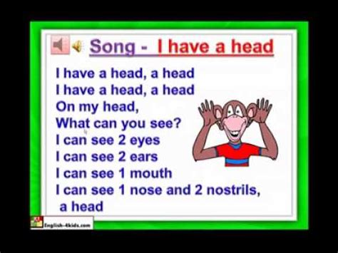 english  kidsesl kids lessons body parts