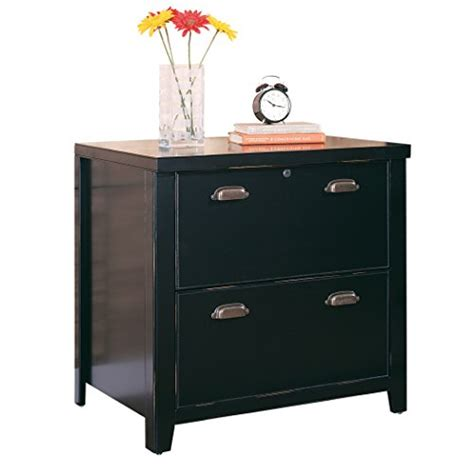 fully assembled storage cabinets kathy ireland home by martin tribeca loft black 2 drawer