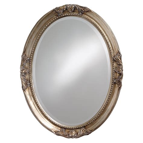 lisette silver wood oval mirror free shipping today overstock com 14036547