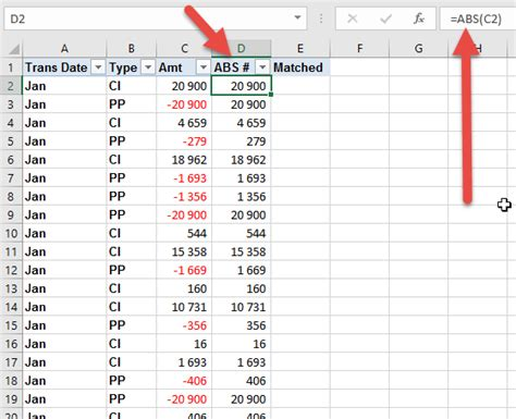 excel ceiling function negative numbers match positive and negative numbers in excel auditexcel