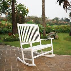 mainstays outdoor double rocking chair white seats 2