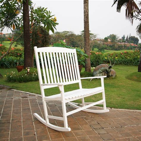 mainstays outdoor rocking chair white seats 2