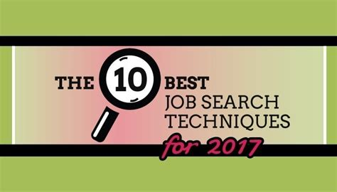 10 Best Job Search Strategies For 2017