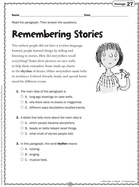 reading comprehension worksheets grade 2 the large and