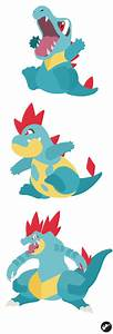 Totodile Croconaw And Feraligatr By Nortikerdeviantart