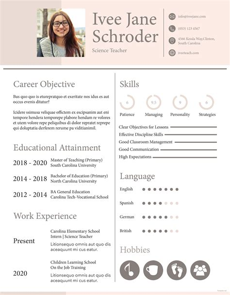 Resume Templates Free For Fresher by Free Fresher School Resume Format Engy Hassan