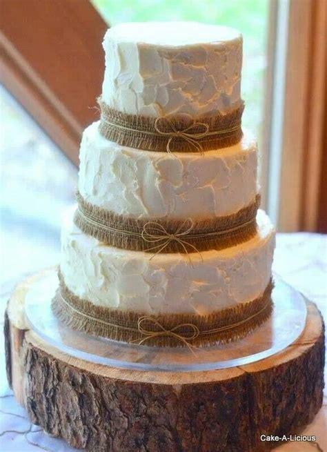 fab  rustic burlap wedding cakes