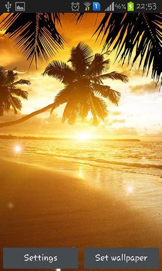 descargar beach sunset  android gratis el fondo de