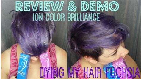 Review And Demo Ion Color Brilliance In Fuchsia Dying My