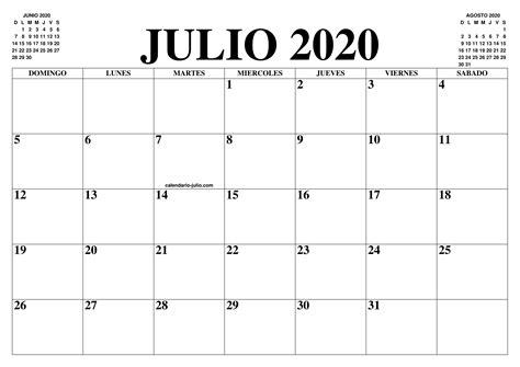 calendario julio el calendario julio imprimir