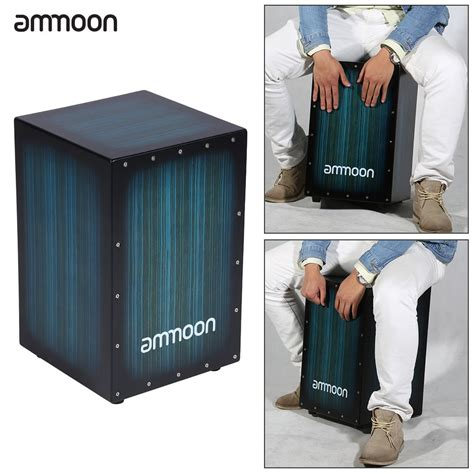sale ammoon wooden box drum cajon drum persussion instrument wood with stings rubber