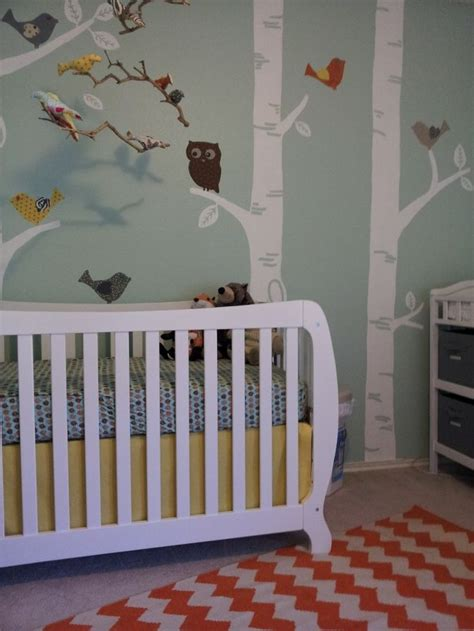 Kinderzimmer Wandgestaltung Wald by Diy Nursery With Modern And Vintage Elements Nursery And