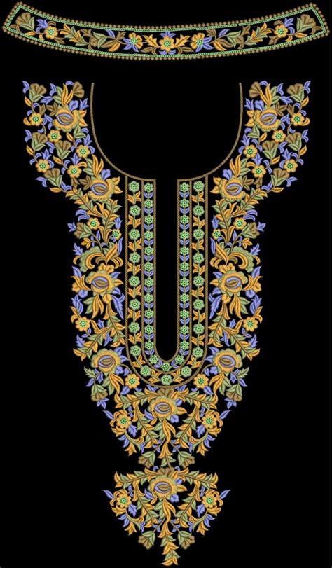 emb embroidery designs neck design