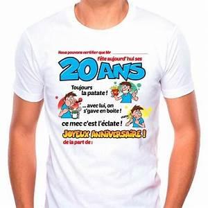 Cadeau Homme 20 Ans : tee shirt homme dedicace on signe pour mes 20 ans ~ Melissatoandfro.com Idées de Décoration