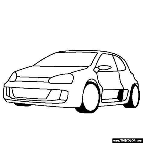 Kleurplaat Golf Gti by Coloring Pages Starting With The Letter V Page 2