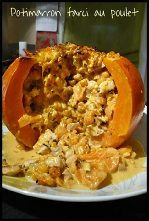 cuisiner le potimarron au four potimarron farci au poulet mes petits délices