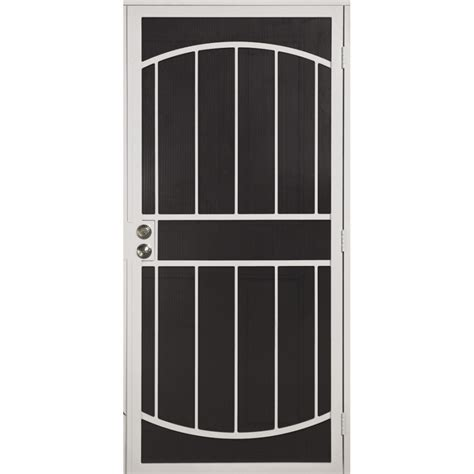security doors lowes shop gatehouse gibraltar white steel surface mount single