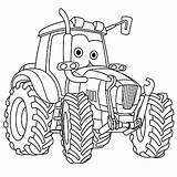 Tractor Coloring Pages Boys Cars Printable Cartoon Trucks Colouring Vehicle Truck Farming Moving Vector Drawing Agricultural Illustration Fun Trains Childish sketch template