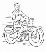 Motorcycle Coloring Pages Printable Riding Momjunction Cool Toddler Jeep sketch template