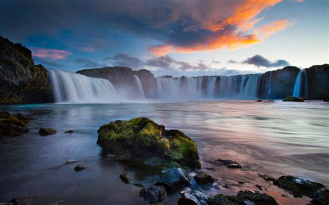 beautiful waterfall landscapes beautiful landscape wallpaper hd resolution waterfalls in iceland wallpapers13 com