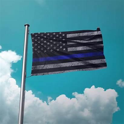 Flag Thin Line Police