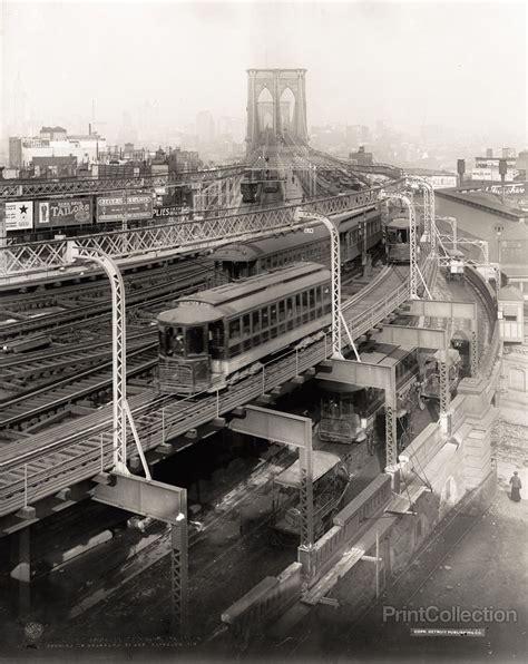 Print Collection Approach To Brooklyn Bridge Brooklyn