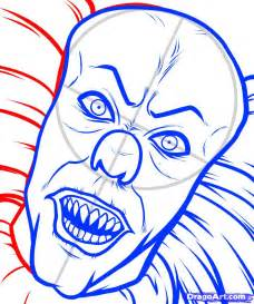How to Draw Pennywise the Clown Drawing