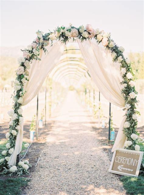 bohemian wedding arches turn  space   romantic enclave