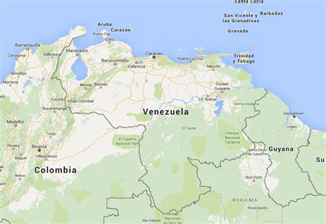Mapa de Venezuela - Mapa Físico, Geográfico, Político ...