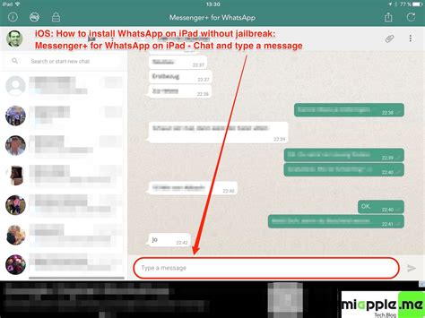 how to start a chat on iphone whatsapp plus for iphone without jailbreak