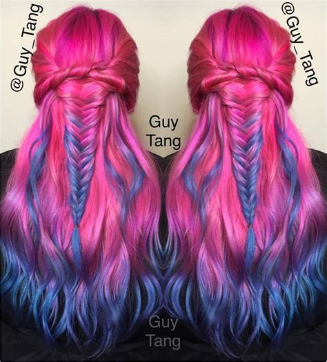 Pink To Blue Ombre By Guy Tang Hair Colors Ideas