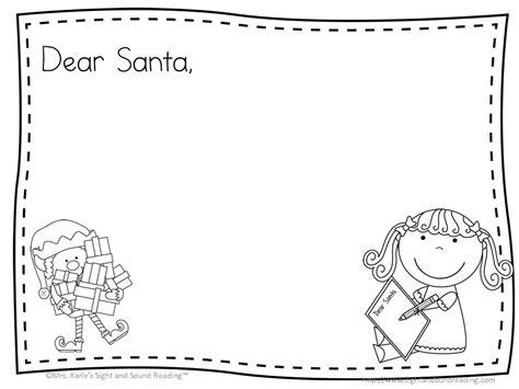 letter to santa template santa letter free template to write a letter to santa 28753