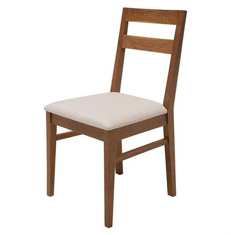 caldor mid century solid white oak dining chair