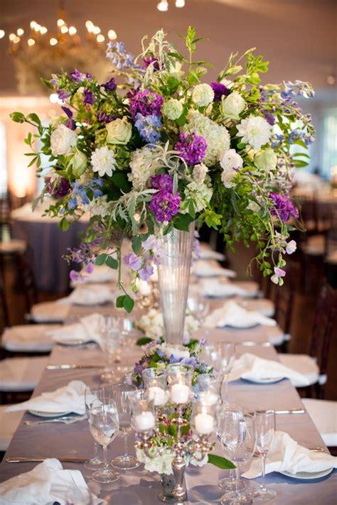blue  purple wedding flowers  tented maryland