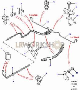 Rear Brake Pipes - With Abs