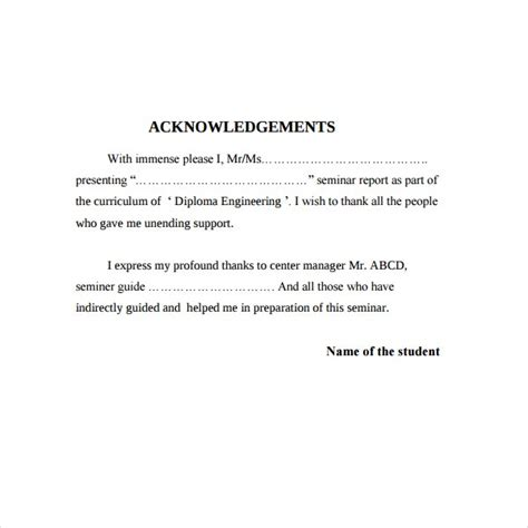 Here are some examples of different acknowledgments sections for books we have done. 6+ Acknowledgement Report Samples - PDF, Word, Pages | Free & Premium Templates