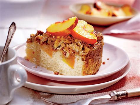 Fresh Peach Coffee Cake With Pecan Streusel Recipe