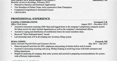 Entry-level Office Clerk Resume
