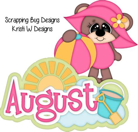 August cute clipart calendars images on school - ClipartBarn