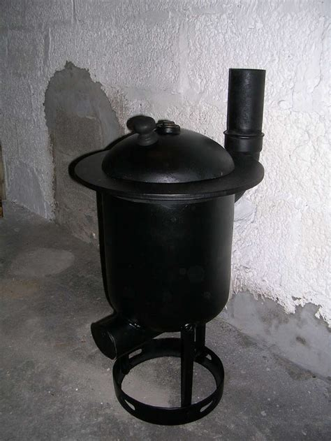 diy wood burner pot belly stove    gas tank